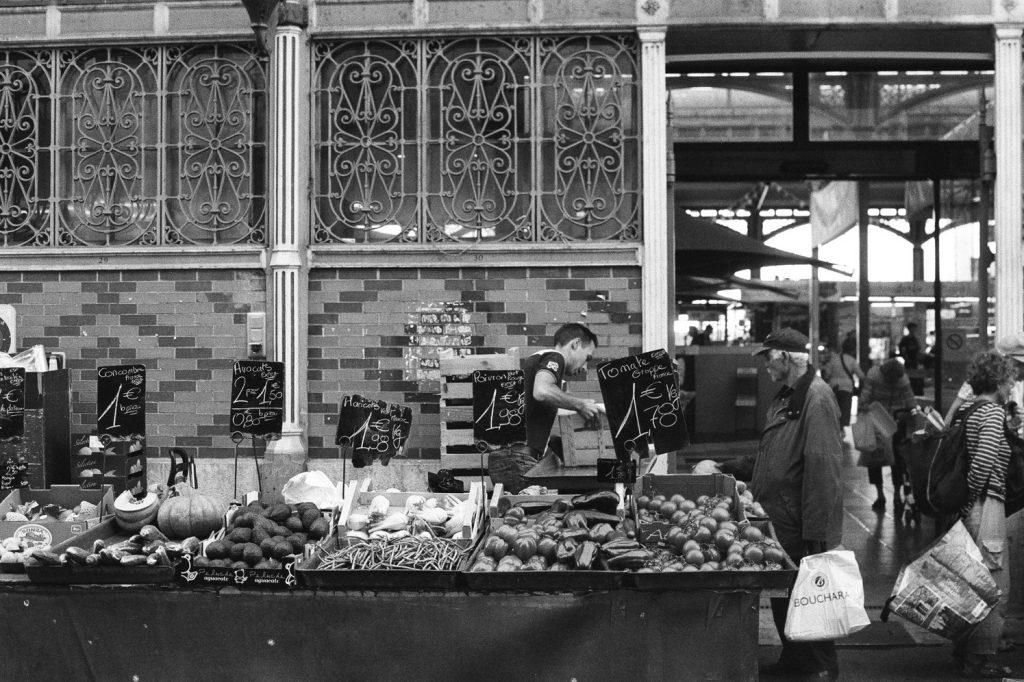 Le marché à Dijon, France, Europe