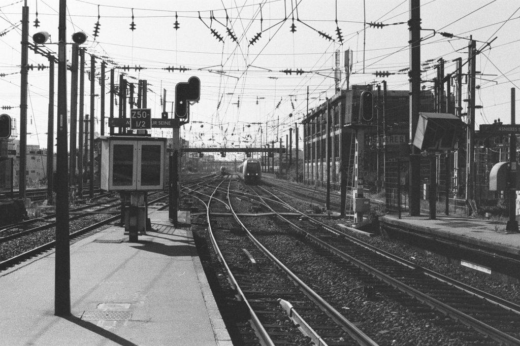 En gare d'Asnières-sur-Seine