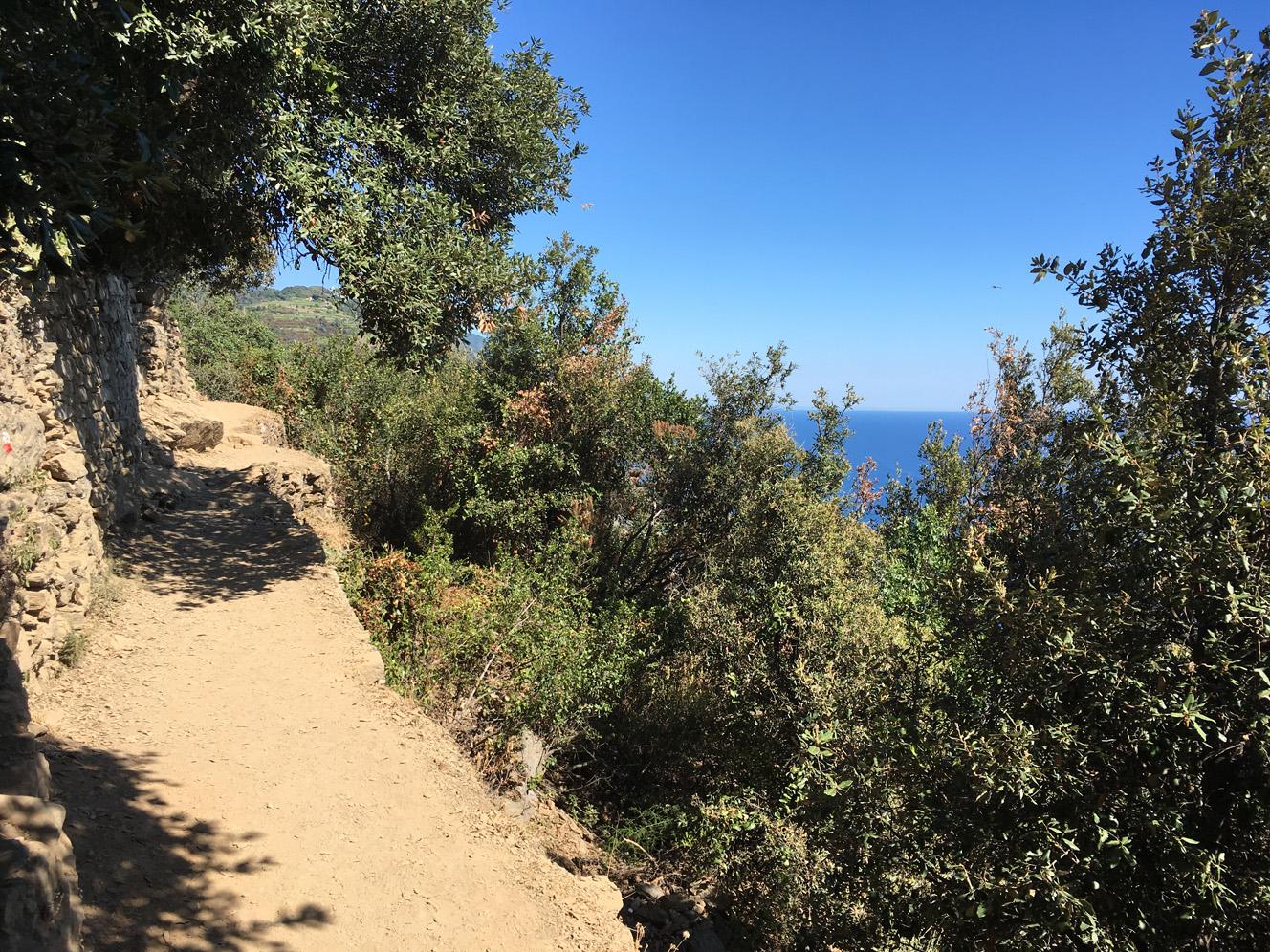 La beauté des Cinq Terres, El Sentiero Azurro, Côté Hublot