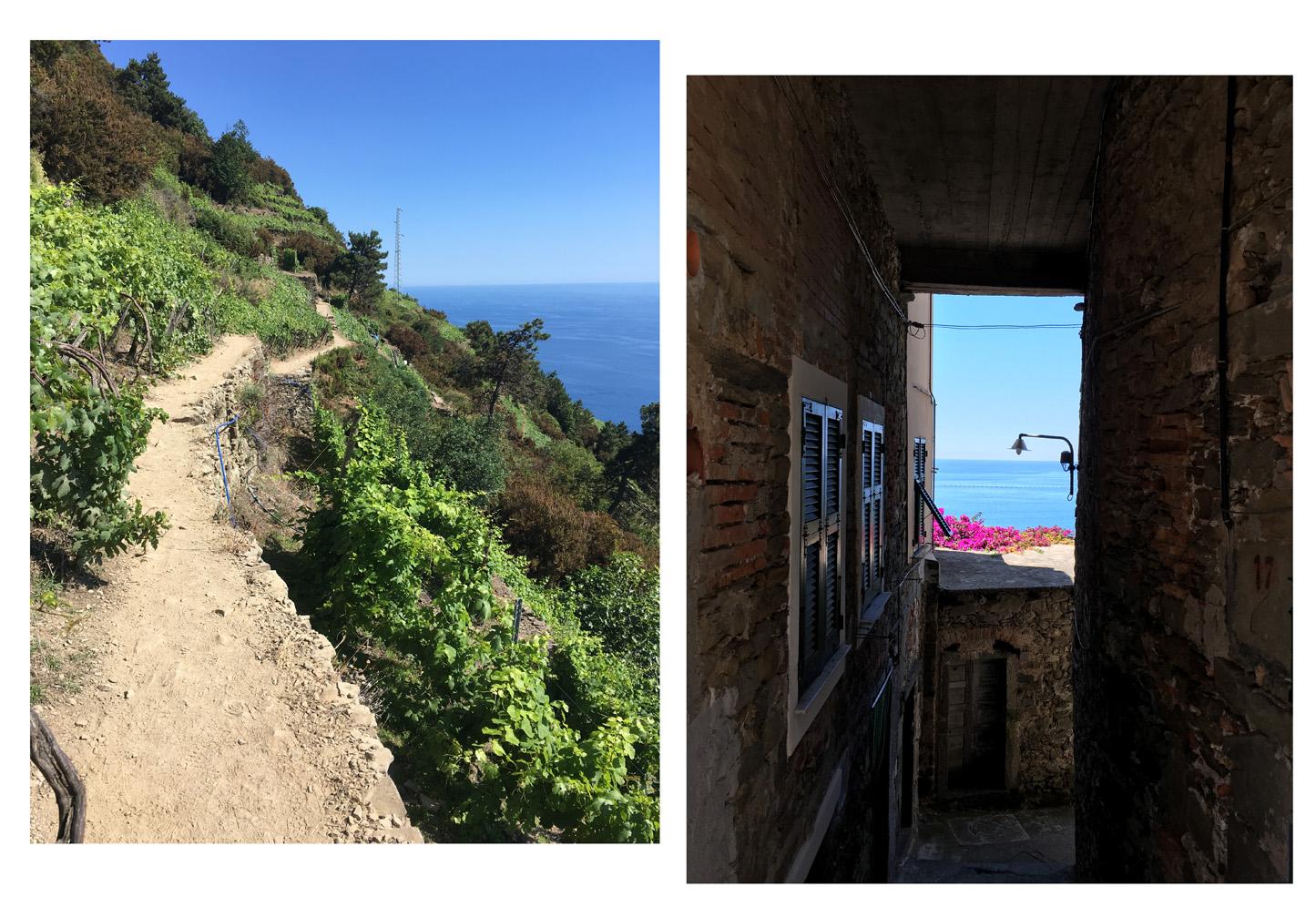 La beauté des Cinque Terre, les chemins de randonnée, Côté Hublot