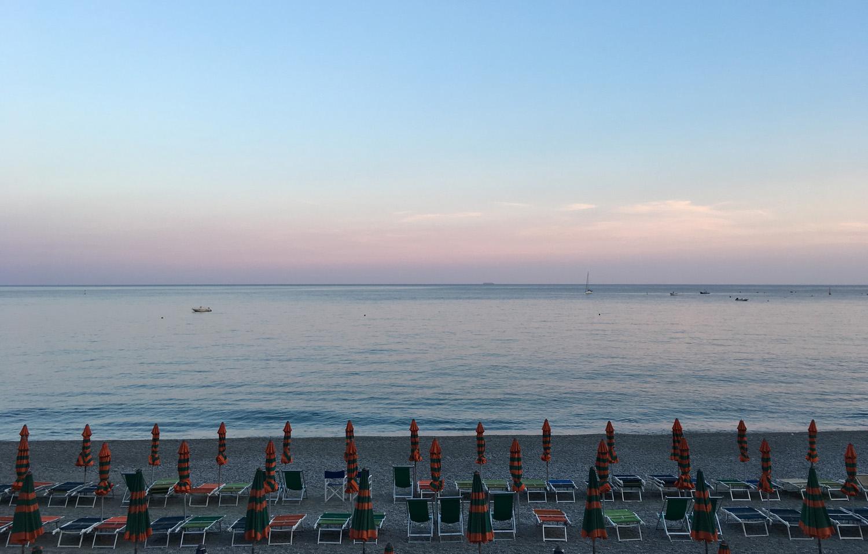 La beauté des Cinq Terres, la plage de Bonassola, Côté Hublot