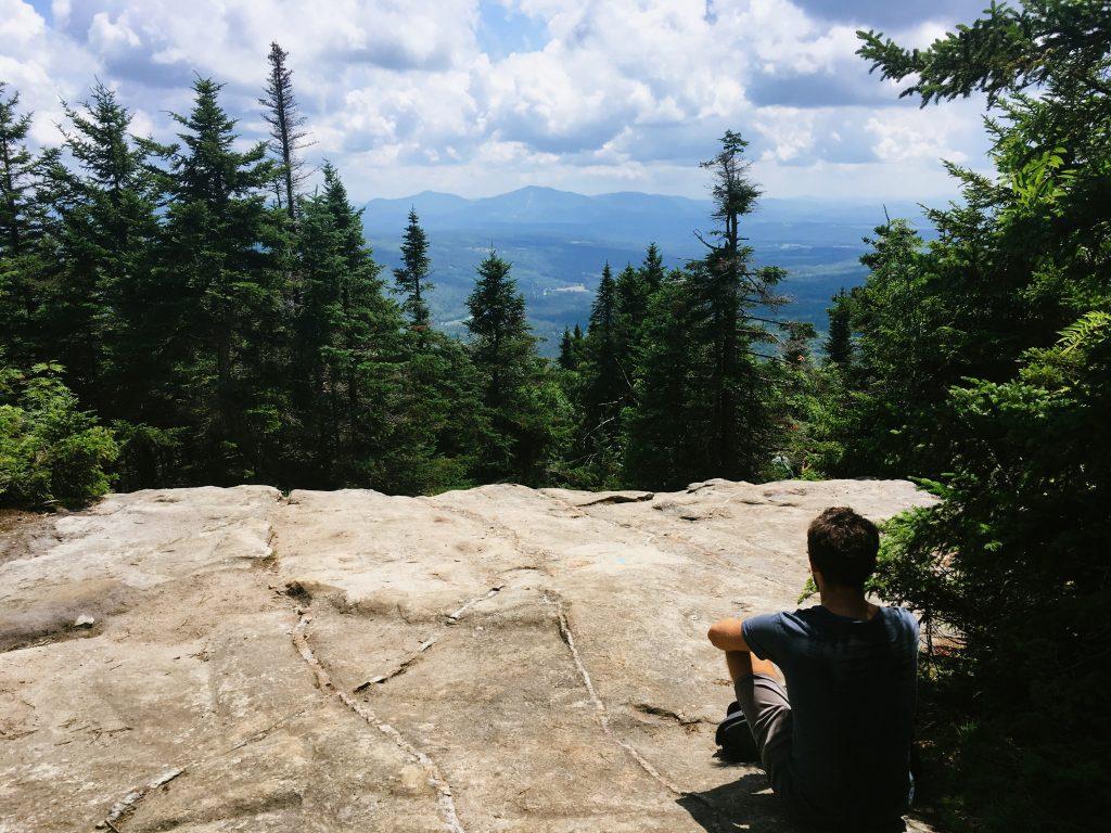 Le sommet du Mont Pisgah