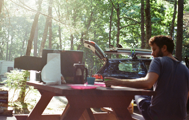 Camper dans le Maine, à Wells