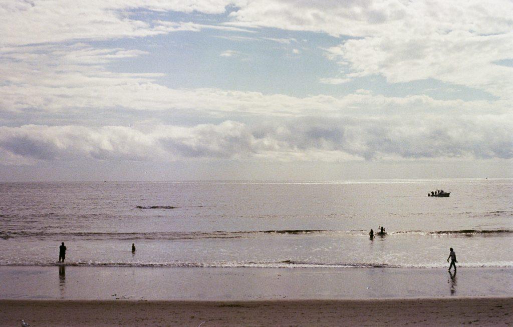 La plage de Wells (Wells Beach) dans le Maine, photo argentique