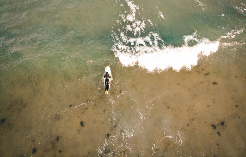 Surfeuse dans le Maine, Wells Beach