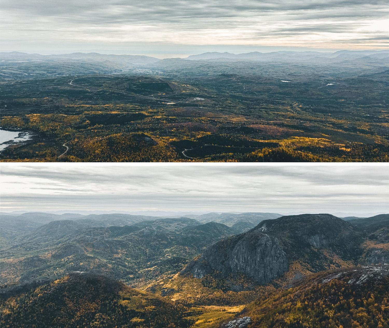 La vue depuis le Mont du lac des Cygnes, Côté Hublot