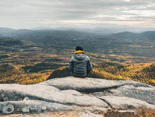La vue depuis le Mont du lac des Cygnes dans le Parc National des Grands-Jardins, Côté Hublot