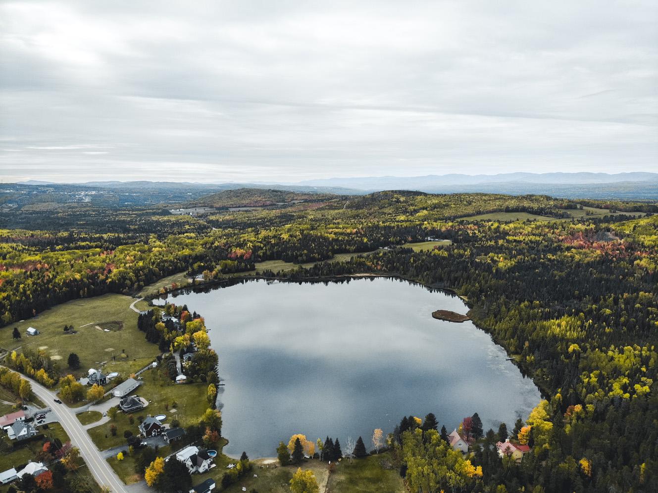 La région de Charlevoix, Québec, vue du ciel - Côté Hublot