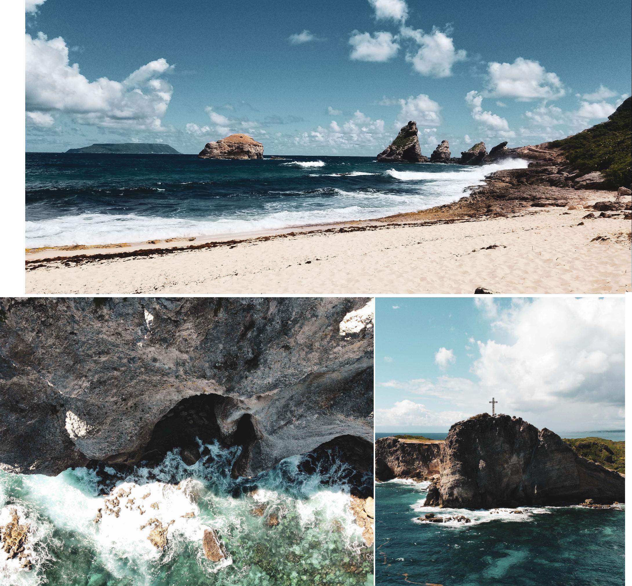 La Pointe des Chateaux en Guadeloupe, Côté Hublot