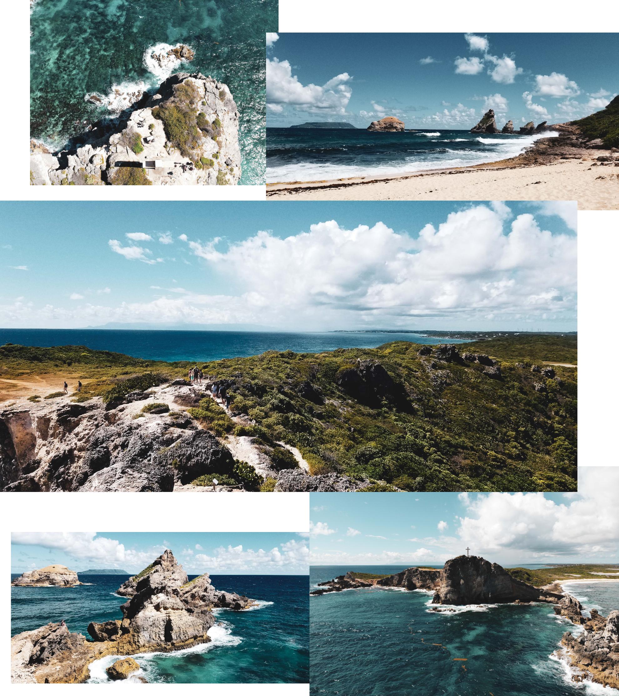 La Pointe des Chateaux par Côté Hublot, Guadeloupe
