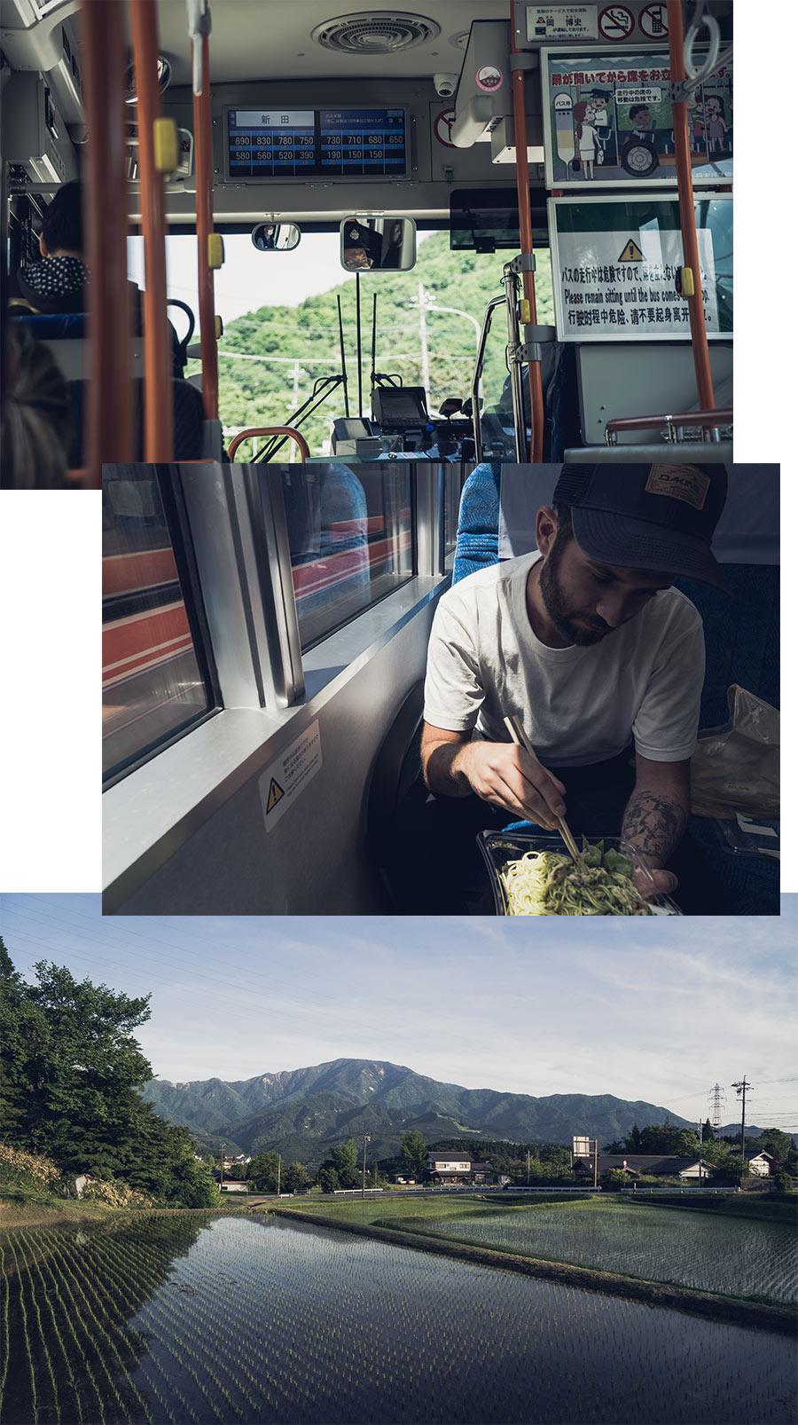 Un trajet entre Kawaguchiko et Magome (Japon), par Côté Hublot