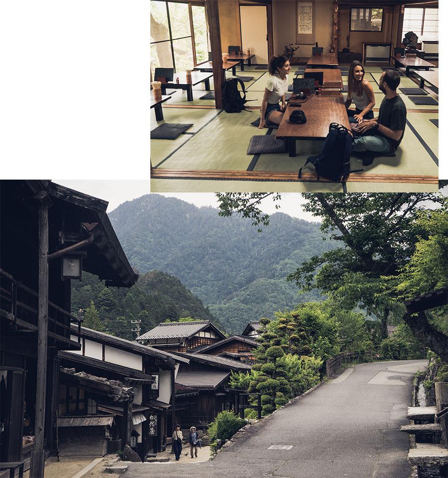 Les rues de Tsumago, dans les Alpes Japonaises, par Côté Hublot