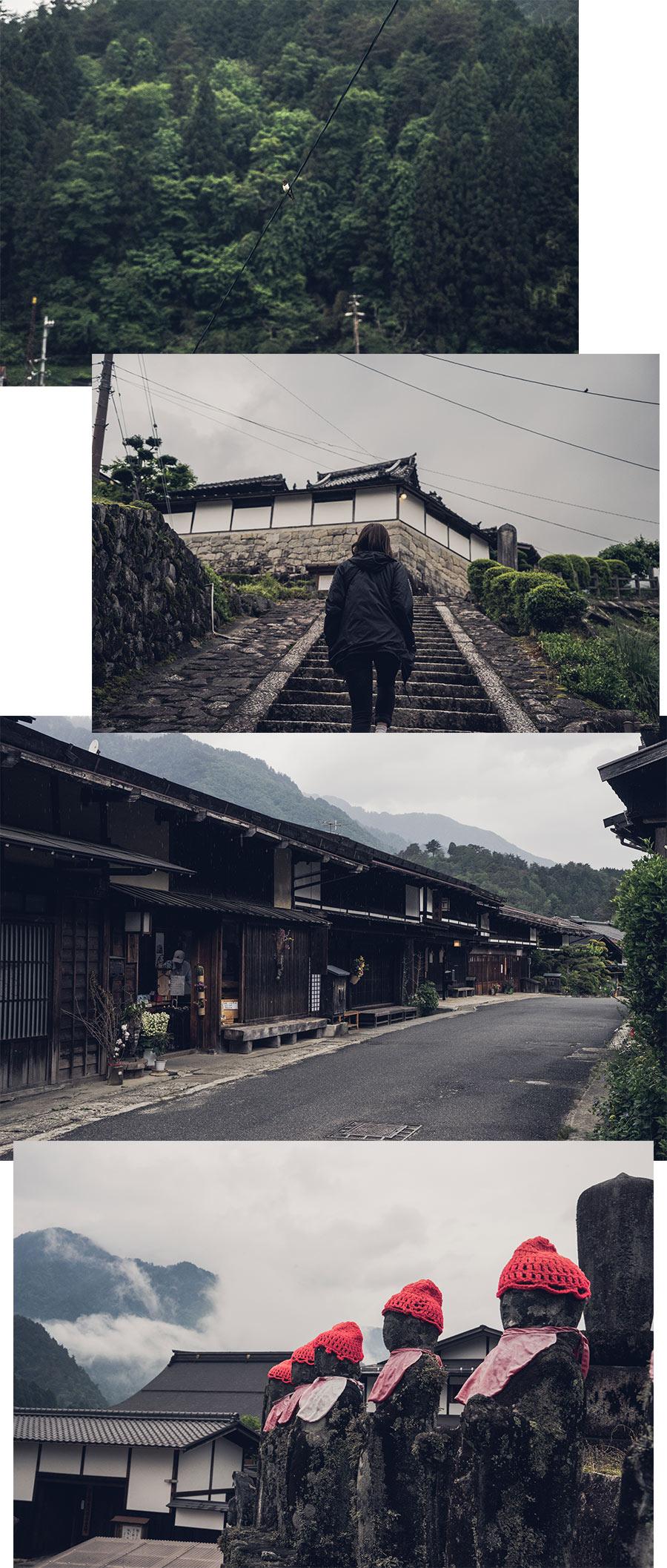 Les rues de Tsumago, la nuit, par Côté Hublot