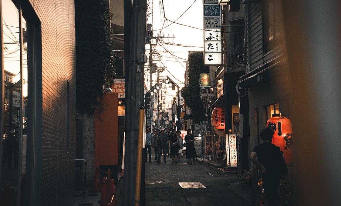 Les rues du quartier de Shimotikazawa, à Tokyo, par Côté Hublot