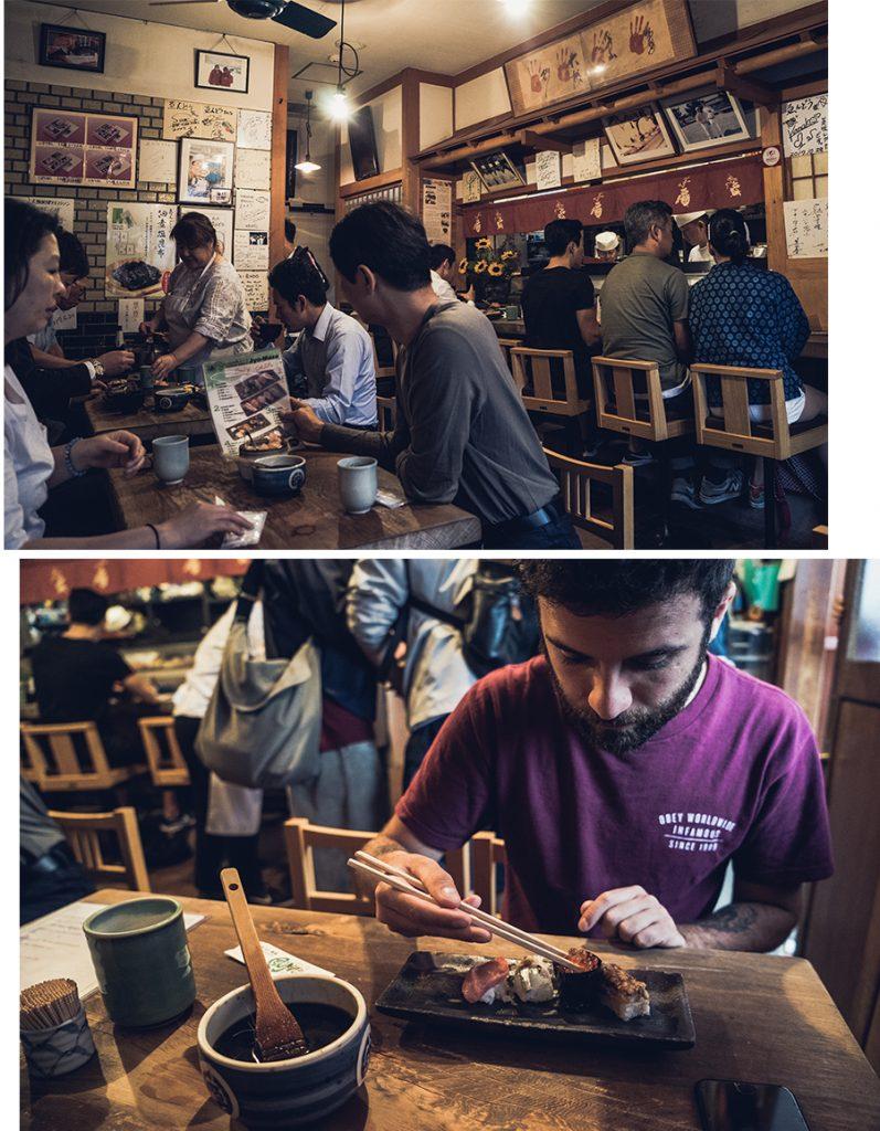 Restaurant de sushi Endo à Osaka, par Côté Hublot
