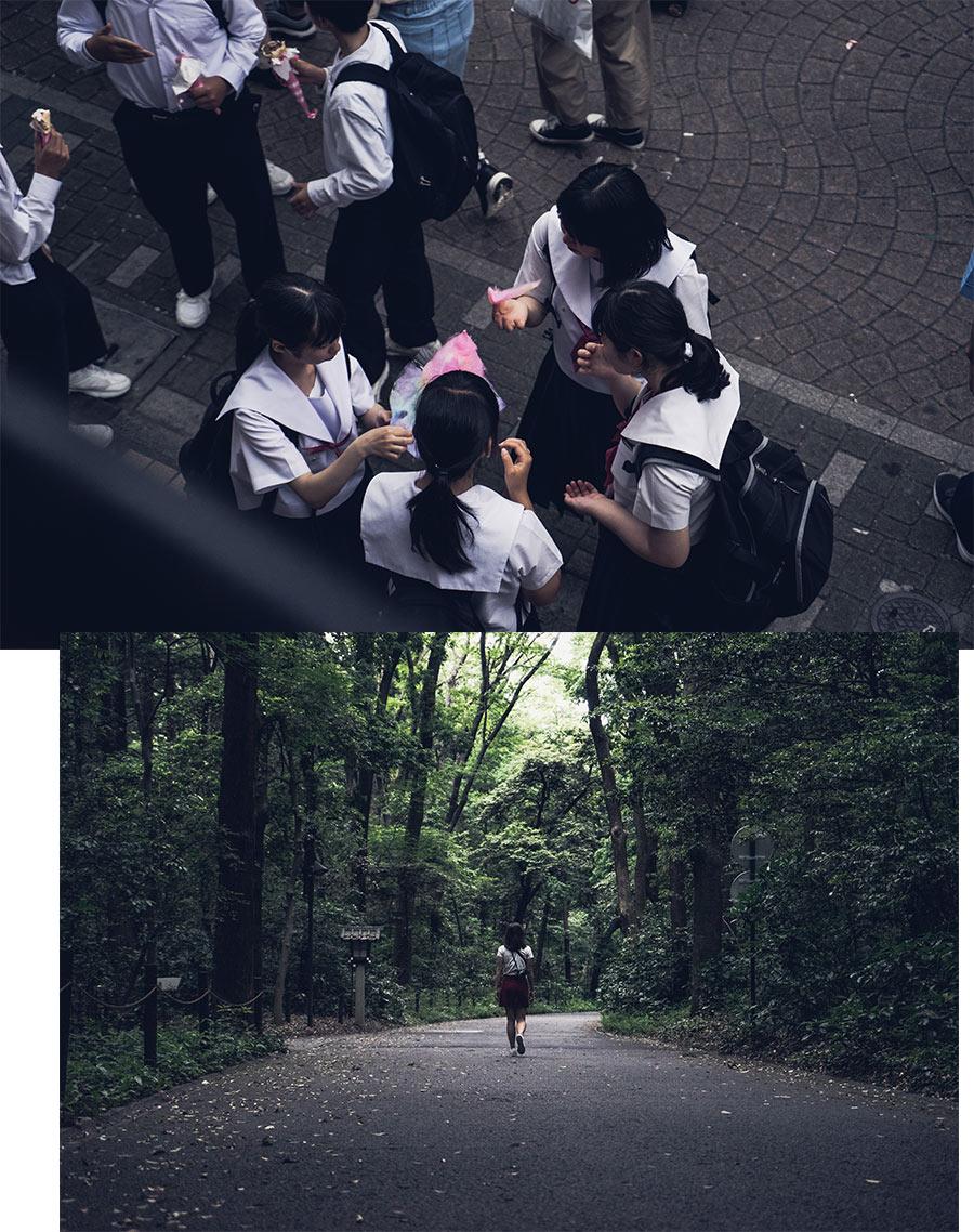 Les rues d'Harajuku et le parc Yoyogi, à Tokyo, par Côté Hublot