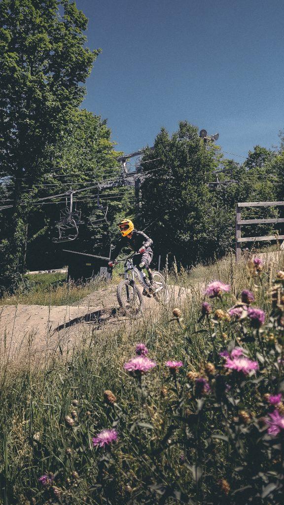 Un habitué du vélo de montagne