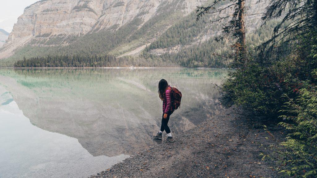 Le Lac miroir Kidney dans le parc provincial du Mont Robson