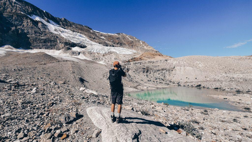 Lac turquoise sur la Iceline Trail, Parc Yoho, par Côté Hublot